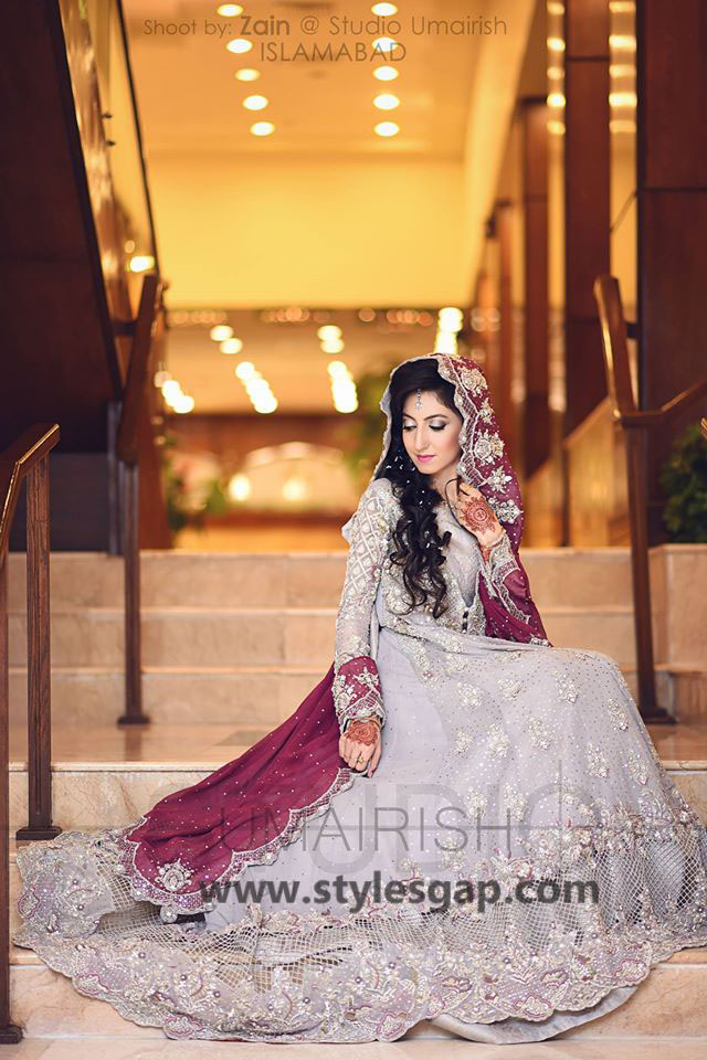 Nikkah Day Bridal Wedding Dresses Designs. (37)