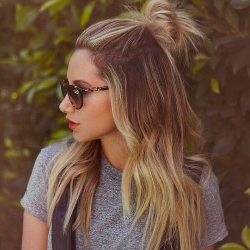 Latest Top Knot Hairstyles Trends & Styles- (13)