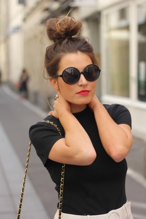 Latest Top Knot Hairstyles Trends & Styles- (15)