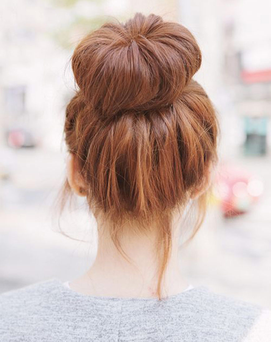 Latest Top Knot Hairstyles Trends & Styles- (18)