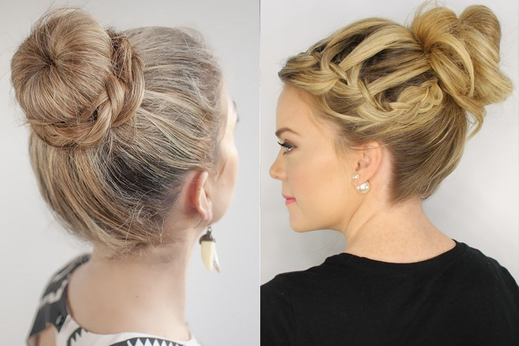 Latest Top Knot Hairstyles Trends & Styles- (8)