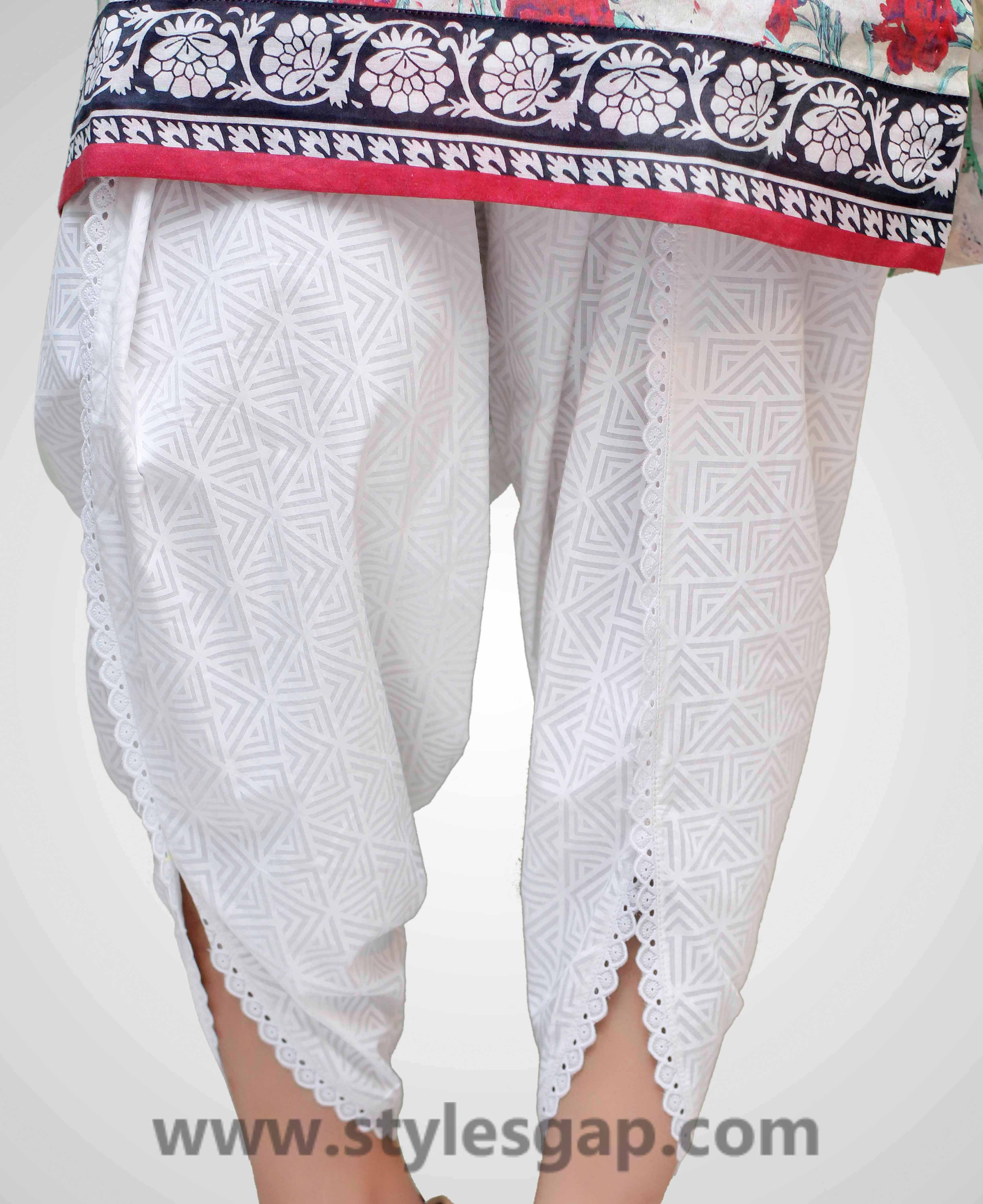 Types & Styles of Tulip Pants Latest Trends 2016 in Pakistan- Laced (1)