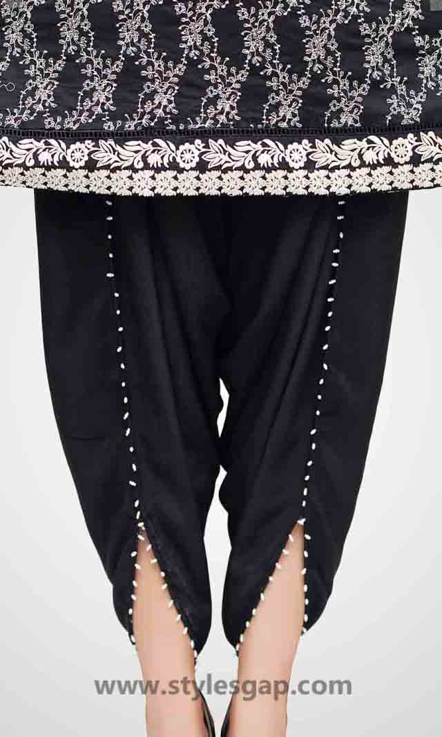Types & Styles of Tulip Pants Latest Trends 2016 in Pakistan- Pearled Pants (1)
