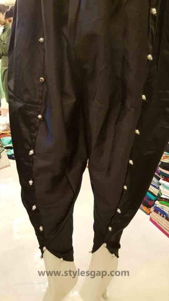 Types & Styles of Tulip Pants Latest Trends 2016 in Pakistan- Pearled Pants (2)