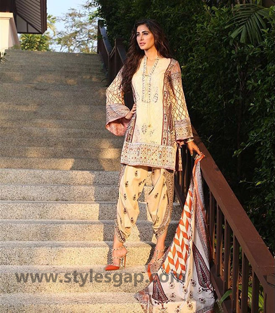 Types & Styles of Tulip Pants Latest Trends 2016 in Pakistan- Printed (1)