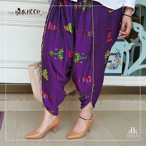 Types & Styles of Tulip Pants Latest Trends 2016 in Pakistan- Printed (2)