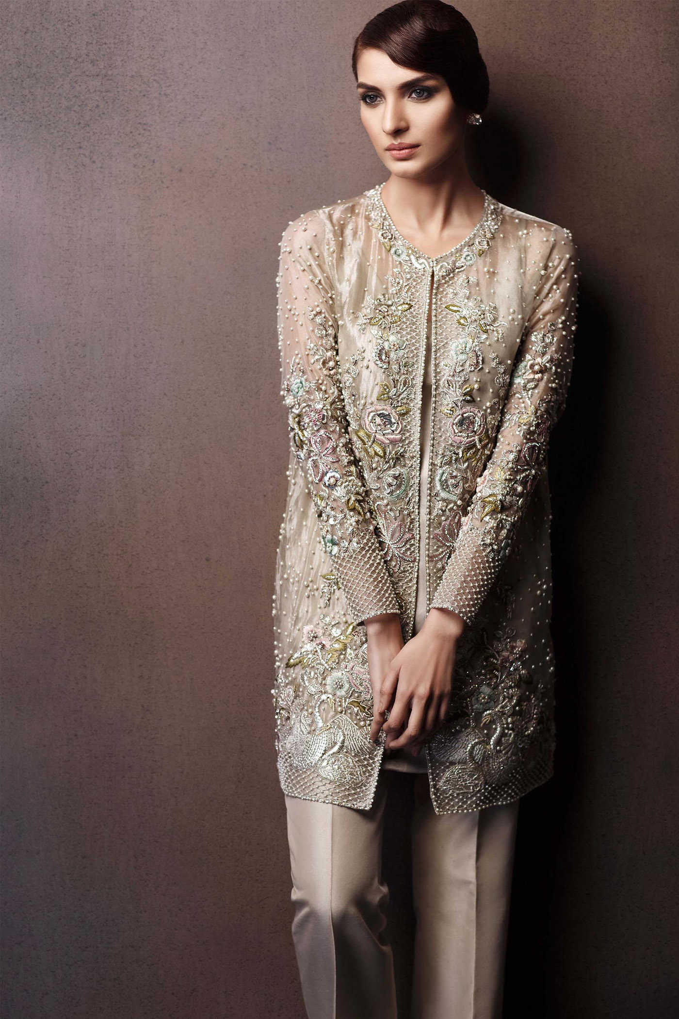 02b131e9e Pakistani Party Wear Embroidered Shirts 2019-2020 Latest Designs