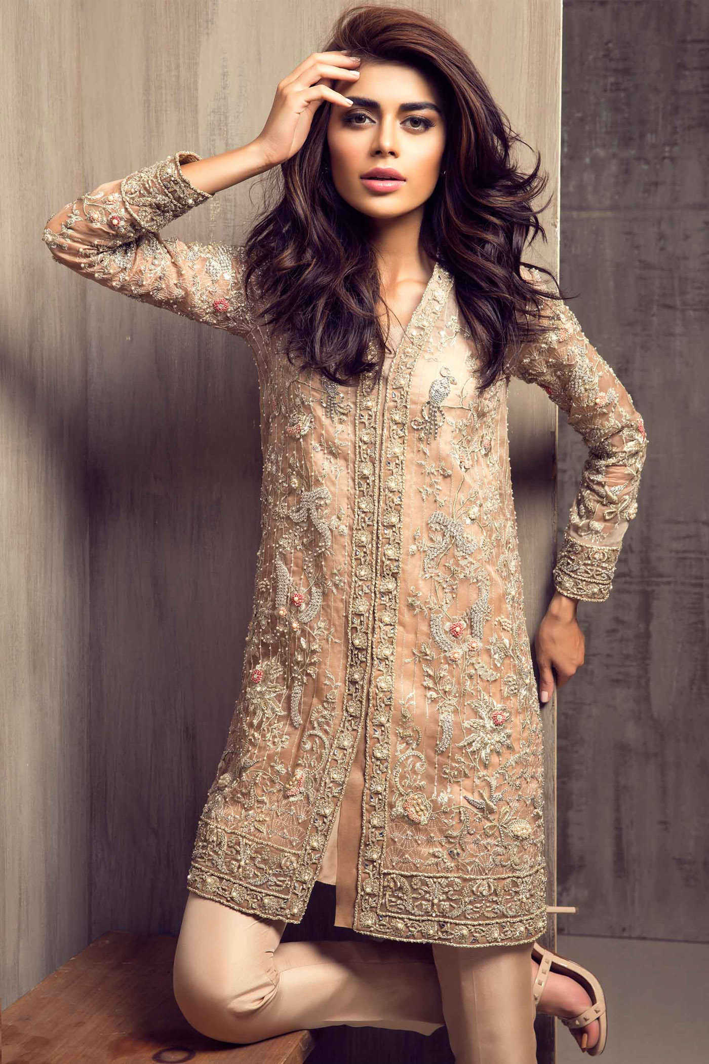 Pakistani Party Wear Embroidered Shirts 2019 2020 Latest Designs