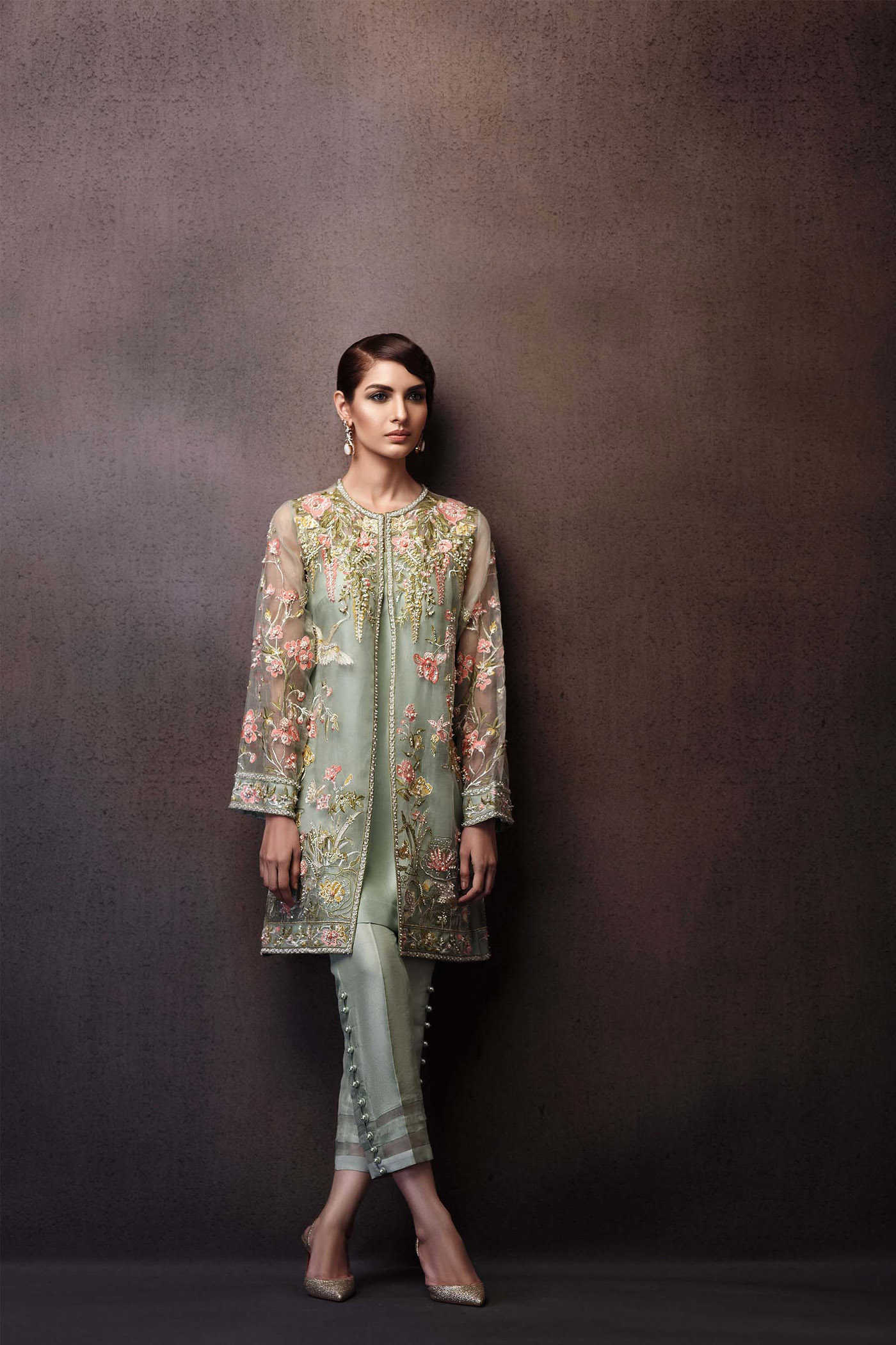 Pakistani Party Wear Embroidered Shirts 2019-2020 Latest Designs c92a6e489
