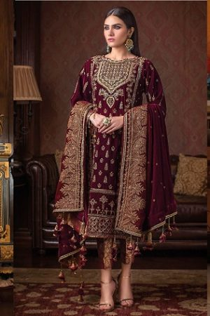 Gul Ahmed Fancy Winter Velvet Dresses & Shawls Collection