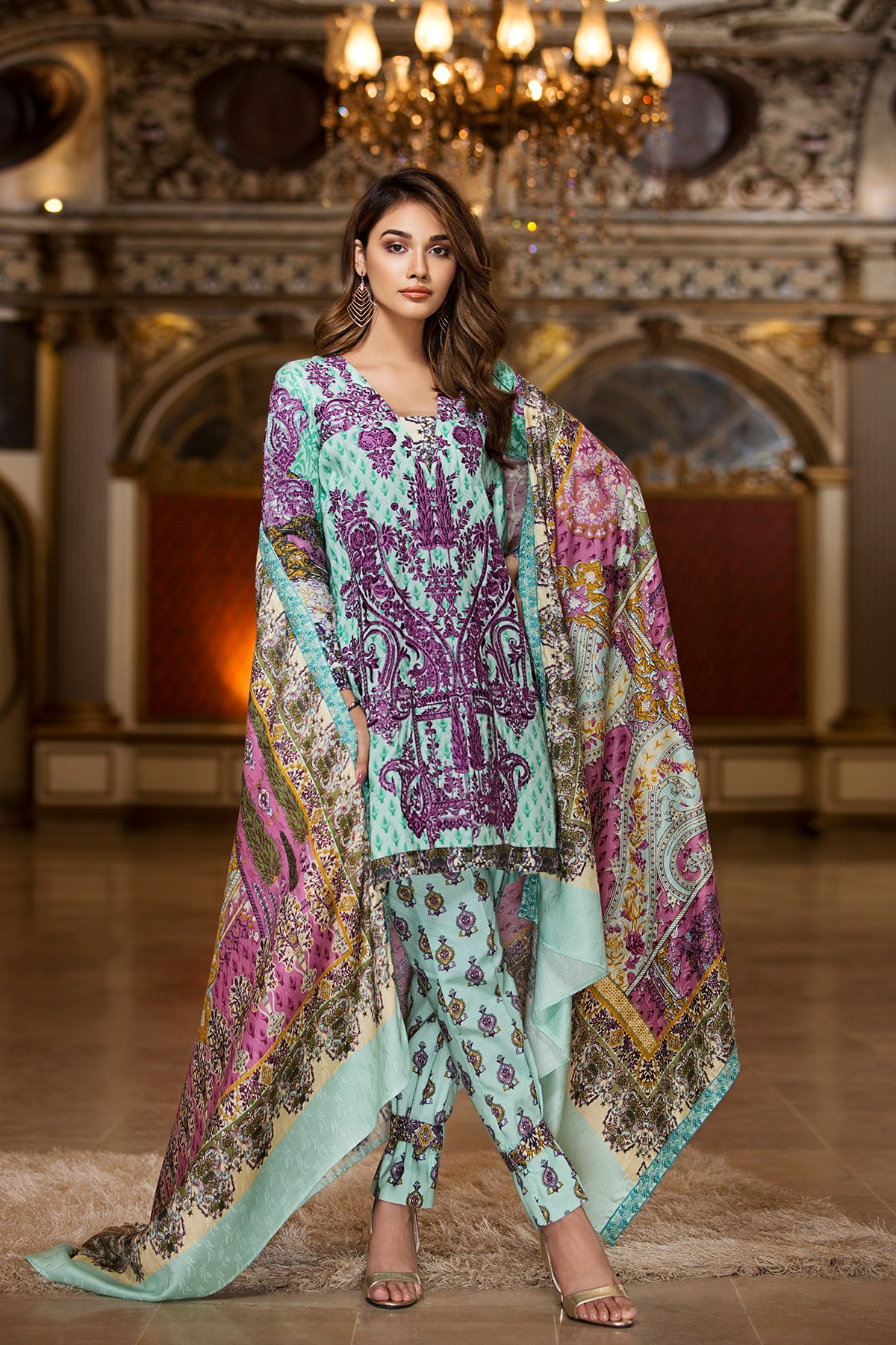 efab36eddc Khaddar- House of Ittehad Winter Embroidered Shawl Linen Dresses 2017-18 (5)