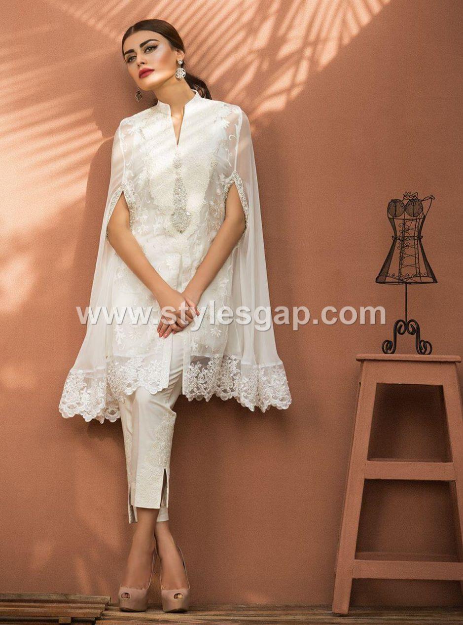 Latest Pakistani Cape Style Dresses 2018 2019 Top Designer