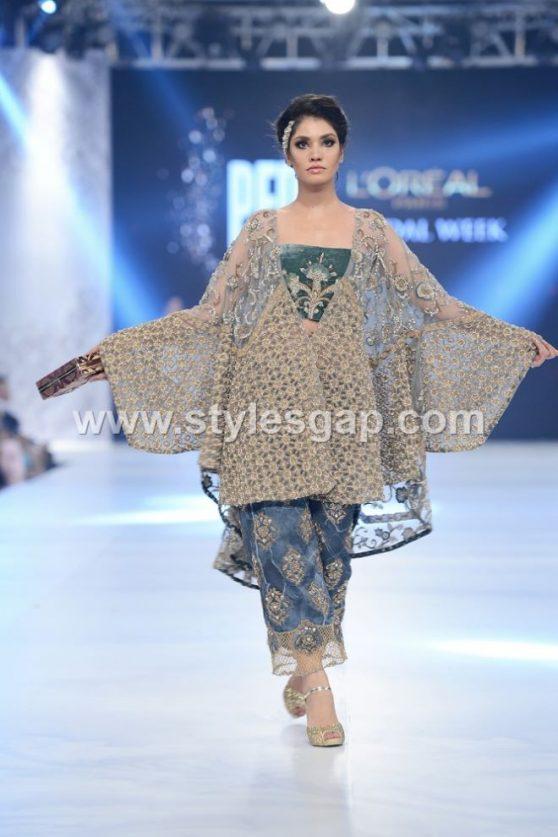 latest pakistani cape style dresses 20182019 top designer