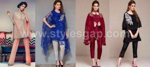 Latest Pakistani Cape Style Dresses 2017-2018 Top Designer Collection