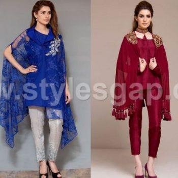 Latest Pakistani Cape Style Dresses Designer Collection 2020-2021