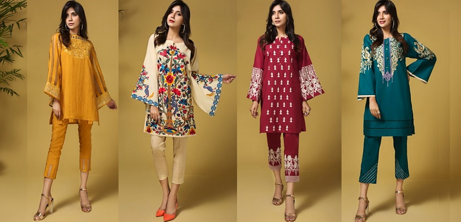 Mausummery Stitched Women Winter Dresses Designs 2018-19 Collection