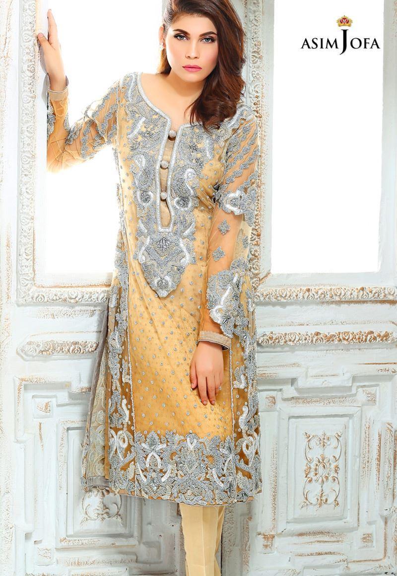 Asim Jofa Luxury Pret Formal Wear Dresses Designs 2018 19