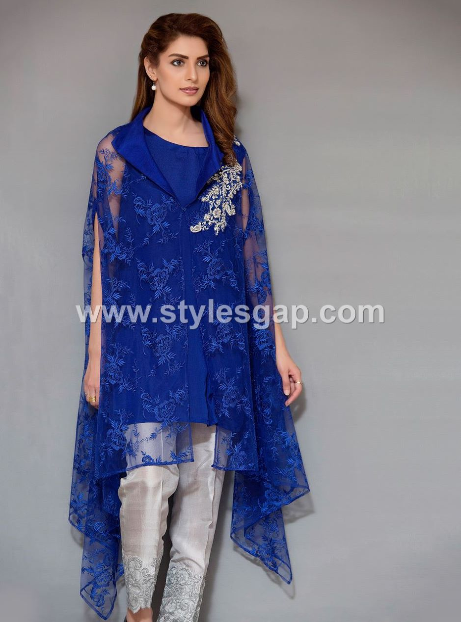 a9f46f4ba Latest Pakistani Cape Style Dresses 2019-2020 Top Designer Collection