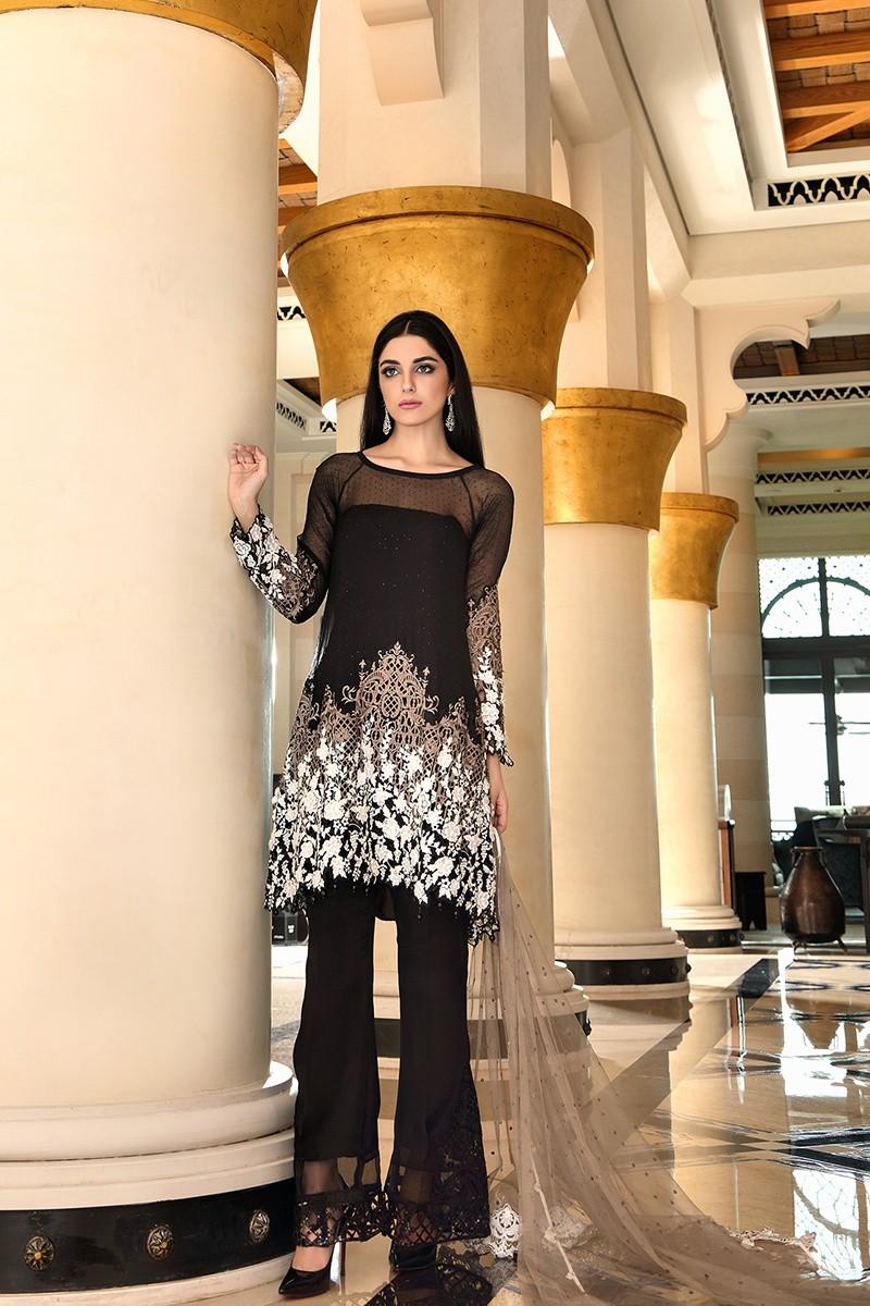 Latest Pakistani Dresses Styles Pairing Bell Bottom Pants