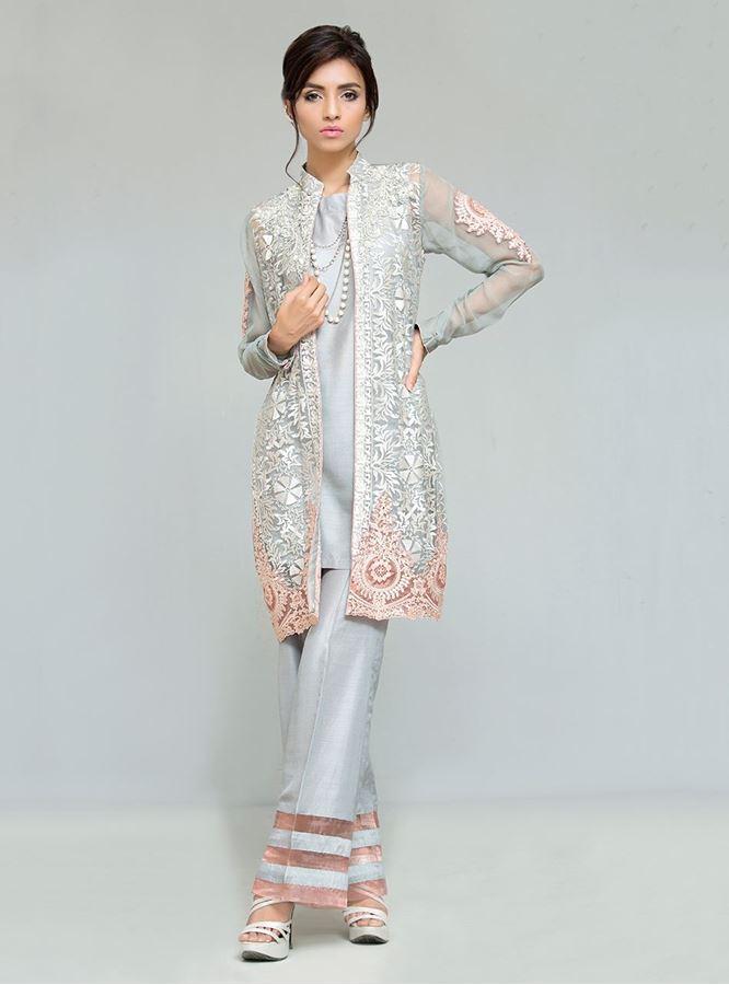 71955830e98e Latest Pakistani Dresses Styles Pairing Bell Bottom Pants 2018-19 Trend