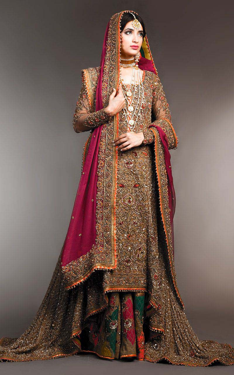 Best popular top 10 pakistani bridal dress designers for Design wedding dress online