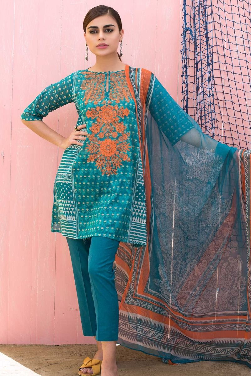 Khaadi Latest Summer Lawn Dresses Designs Collection 2018-2019