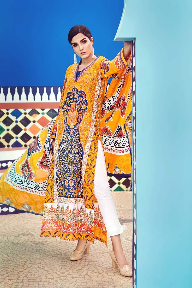 Gul Ahmed Printed Summer Lawn Dresses Collection 2018 2019