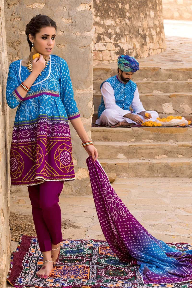 Fashion style Summer beautiful dresses gul ahmad for woman