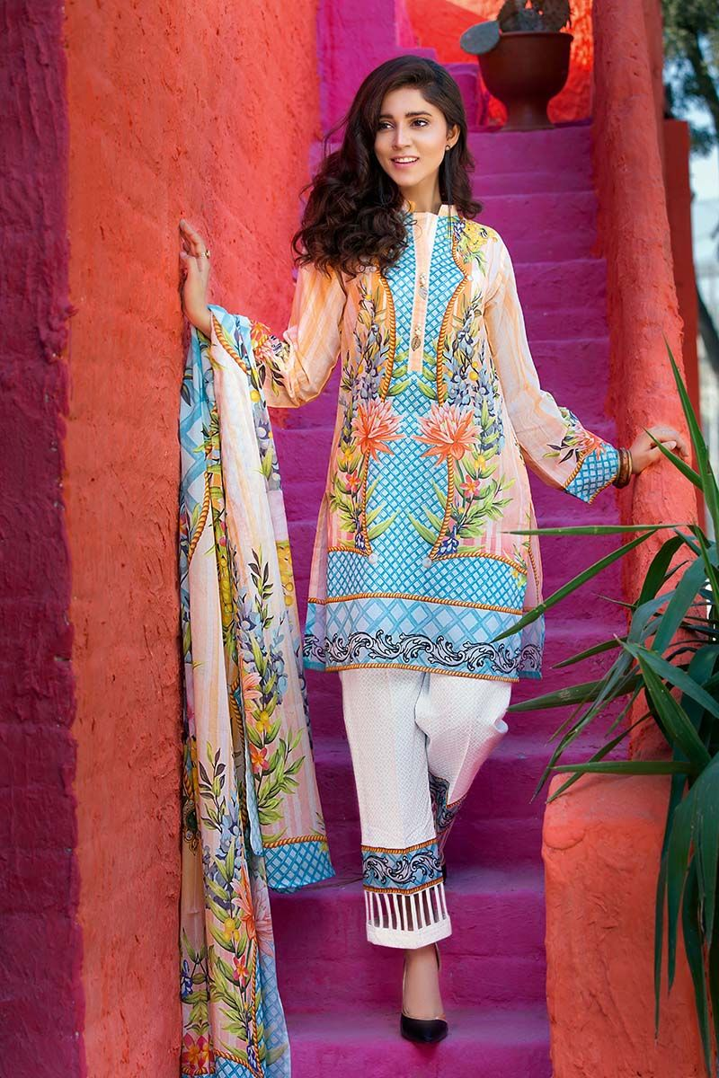 db2986057 It generally offers higher quality lawn fabric intended with the latest  prints and designs. Gul Ahmed Printed Lawn Dresses Collection 2018 consists  of the ...