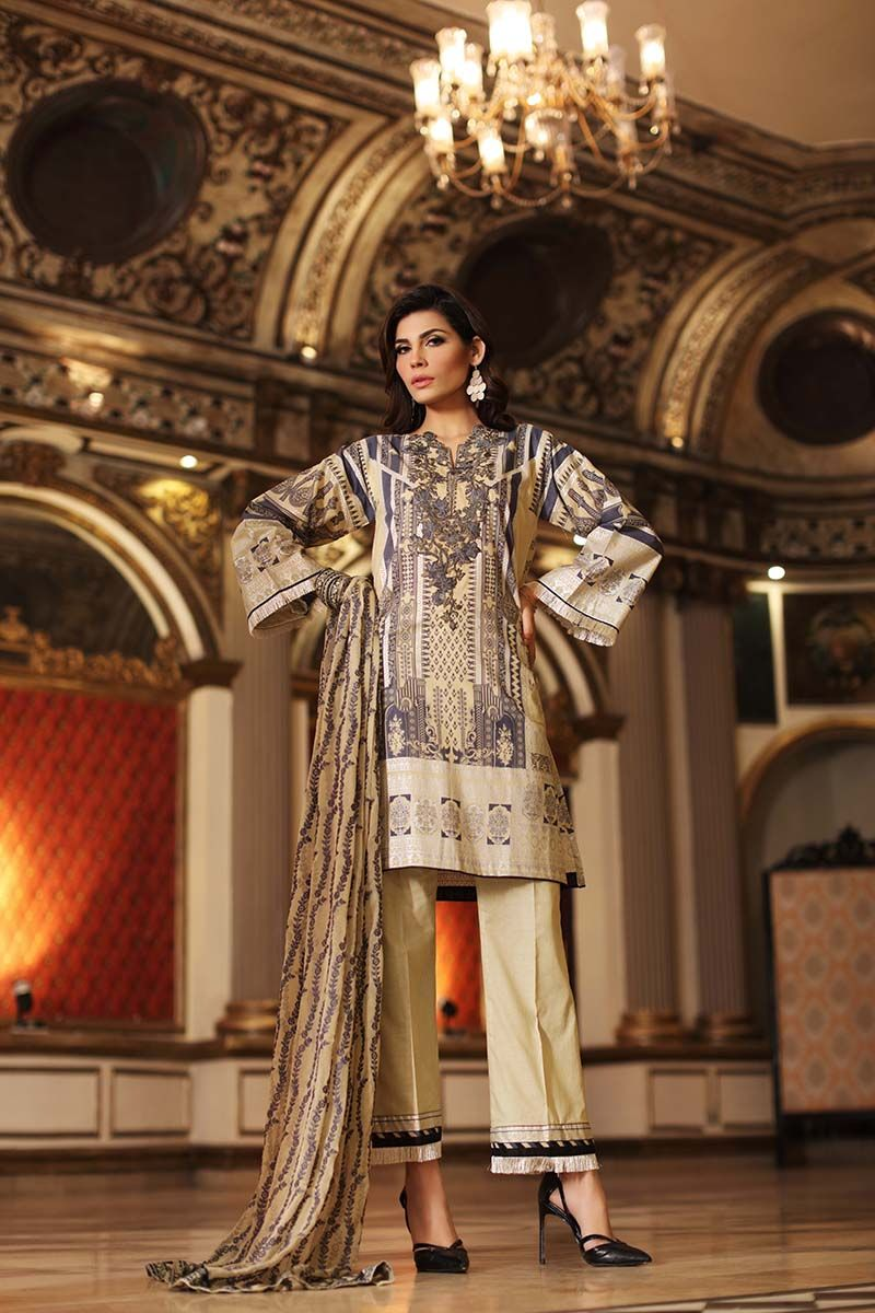 Gul Ahmed Summer Embroidered Lawn Dresses Collection 2018 2019