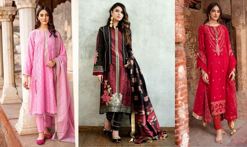 Gul Ahmed Summer Formal Dresses Jacquard & Chiffon Collection