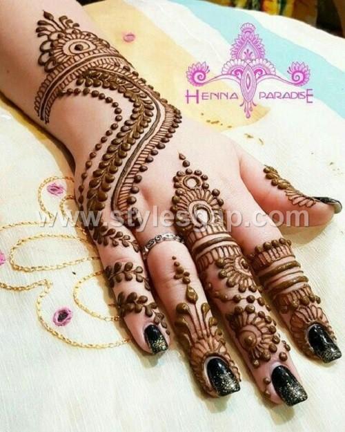 d2e2569a6 Pakistani & Indian Eid Mehndi Designs Collection 2019-2020