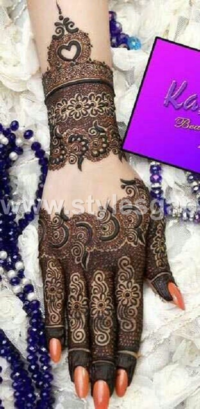 Pakistani indian eid mehndi designs collection 2018 2019 for Pakistani simple house designs