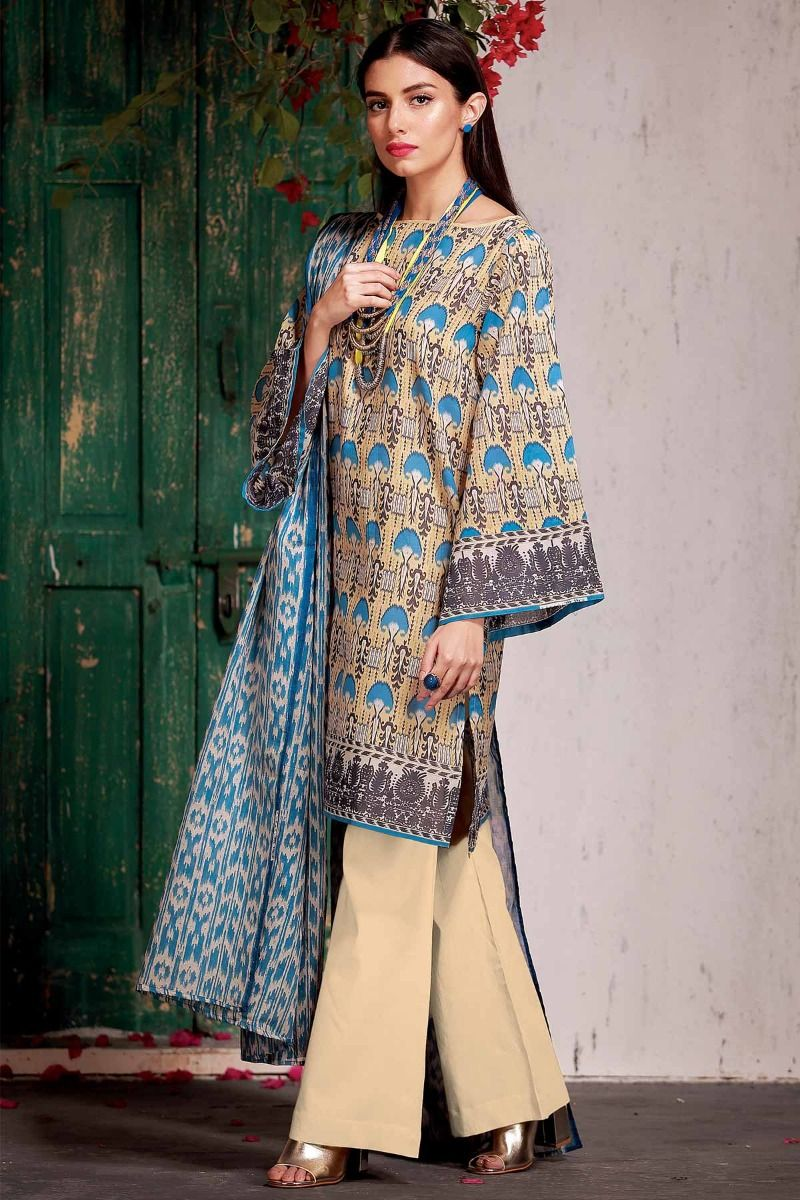 b9a3cecc74 Printed Khaadi Latest Summer Lawn Dresses Designs Collection 2018-2019 (3)