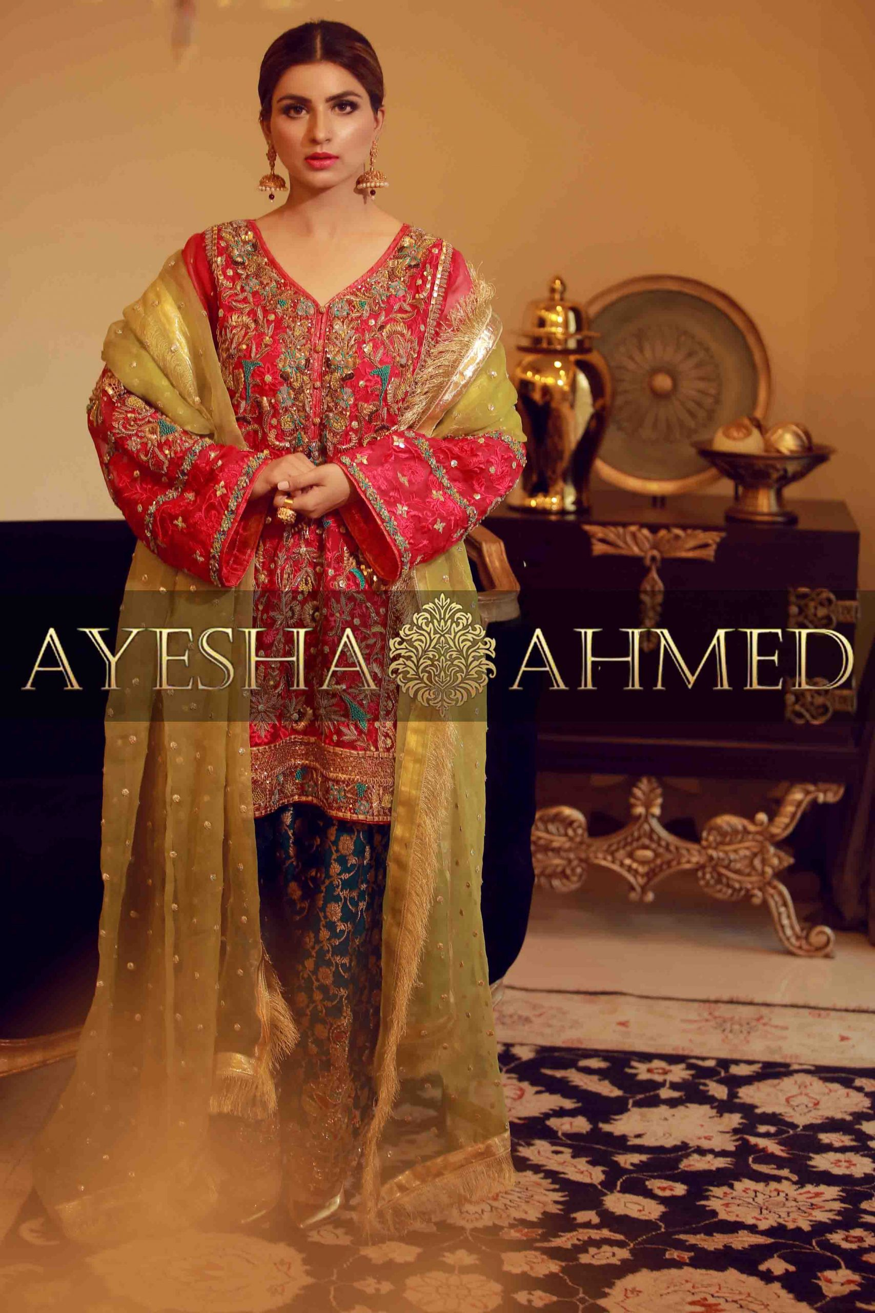 Ayesha Ahmed Formals Party Wear Dresses Designs