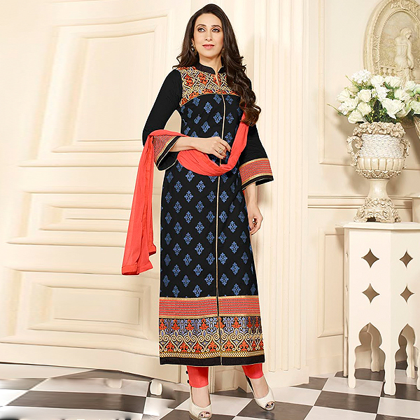 Black Cotton Salwar Kameez