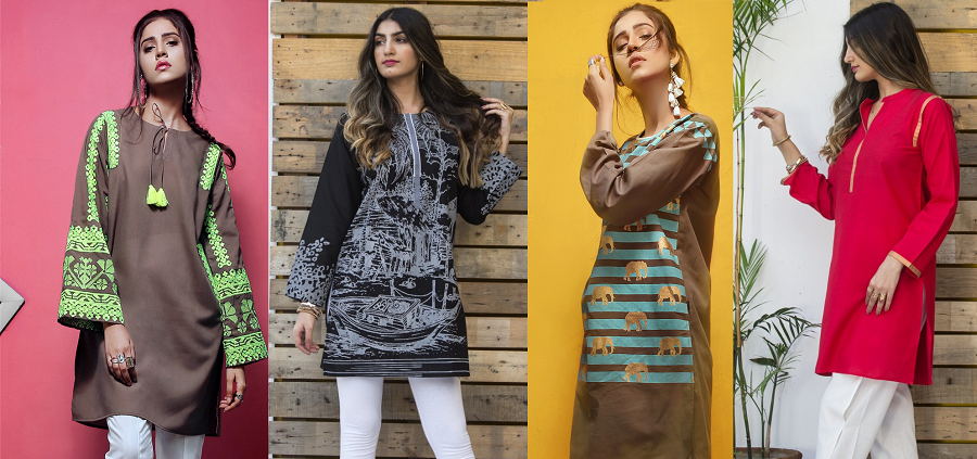 Ego Latest & Stylish Ladies Summer kurta Collection 2018-2019