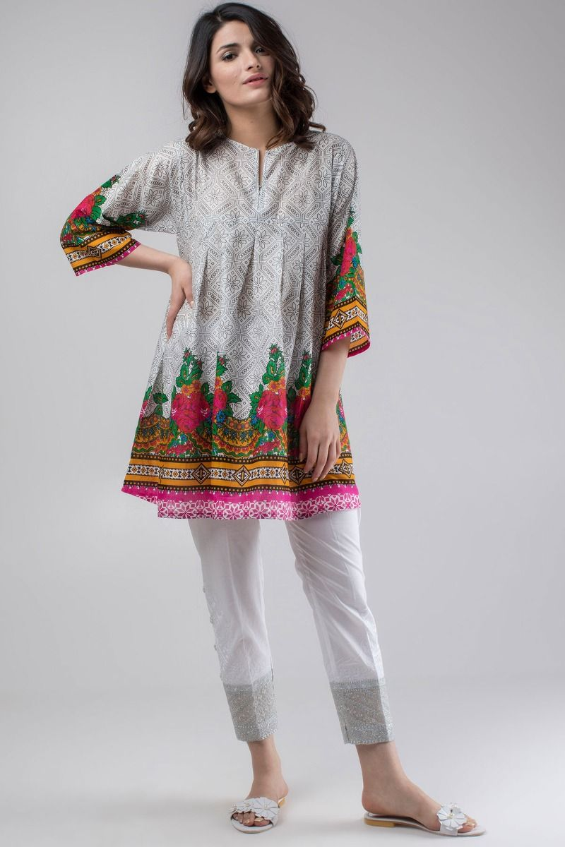Khaadi Stylish Summer Kurtas U0026 Dresses Pret Spring Collection 2018-19