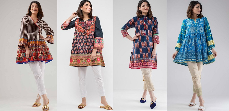 Khaadi Stylish Summer Kurtas & Dresses Pret Spring Collection 2018-2019