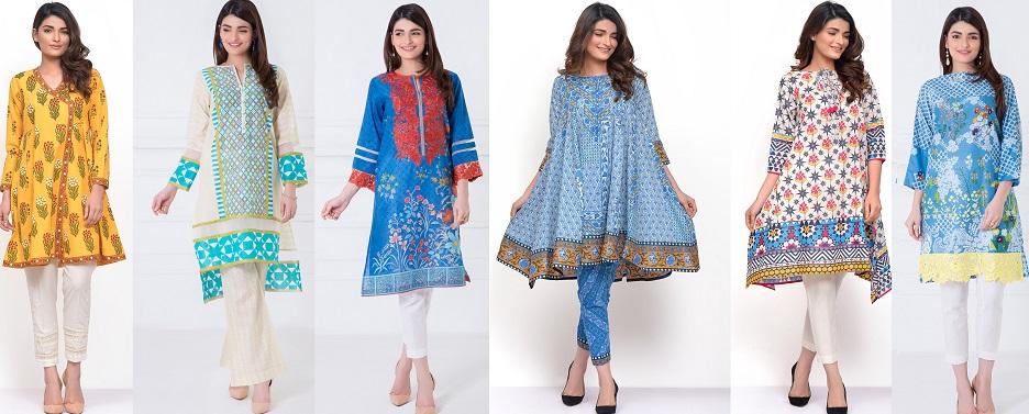 Khaadi Stylish Summer Kurtas Dresses Ready to Wear Pret Spring Collection 2017-18
