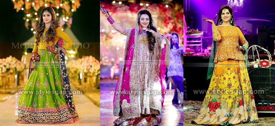 Latest Bridal Mehndi Dresses Designs 2019-2020