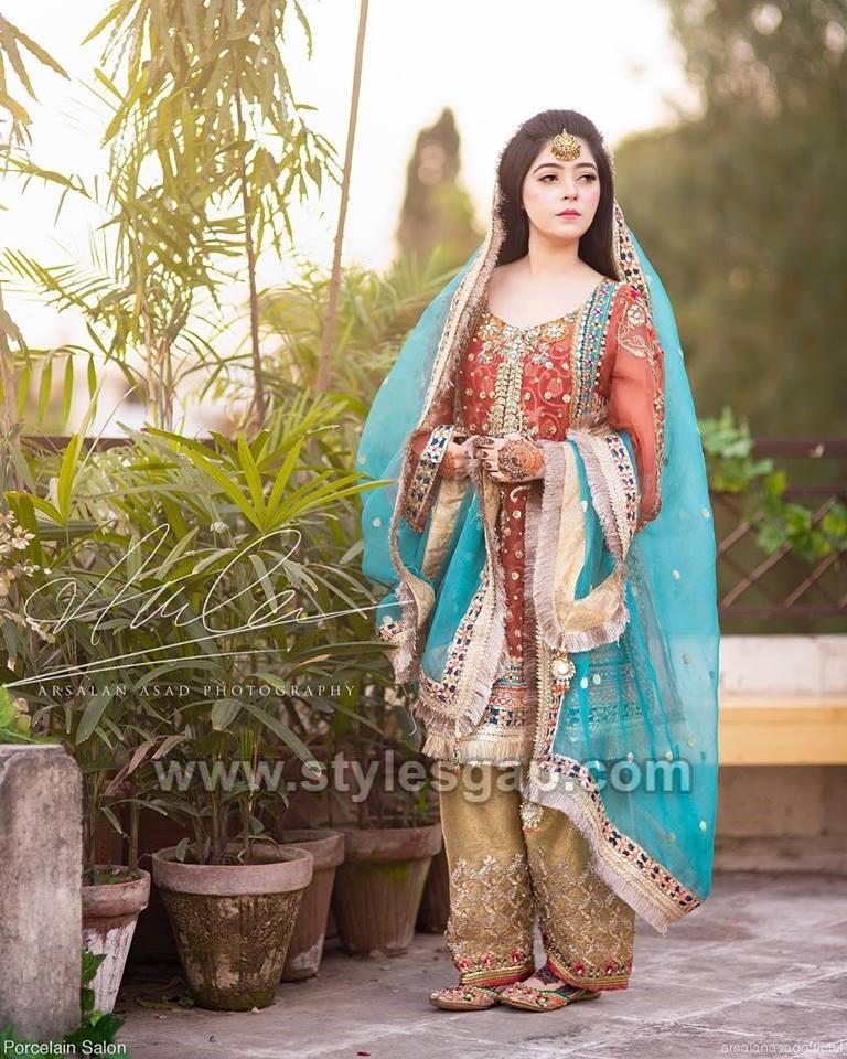 Latest Bridal Mehndi Dresses Designs 2020 2021 Collection