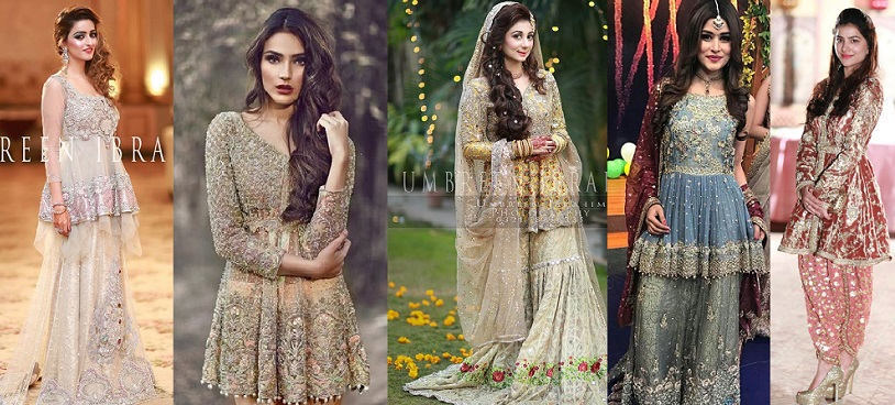 Latest Pakistani Short Frocks Peplum Tops Designs Collection