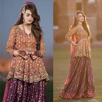 0e6b6e4122 Latest Pakistani Short Frocks Peplum Tops Styles & Designs 2019-2020