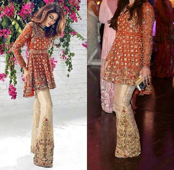 5421938fabaad Latest Pakistani Short Frocks Peplum Tops Styles & Designs 2019-2020