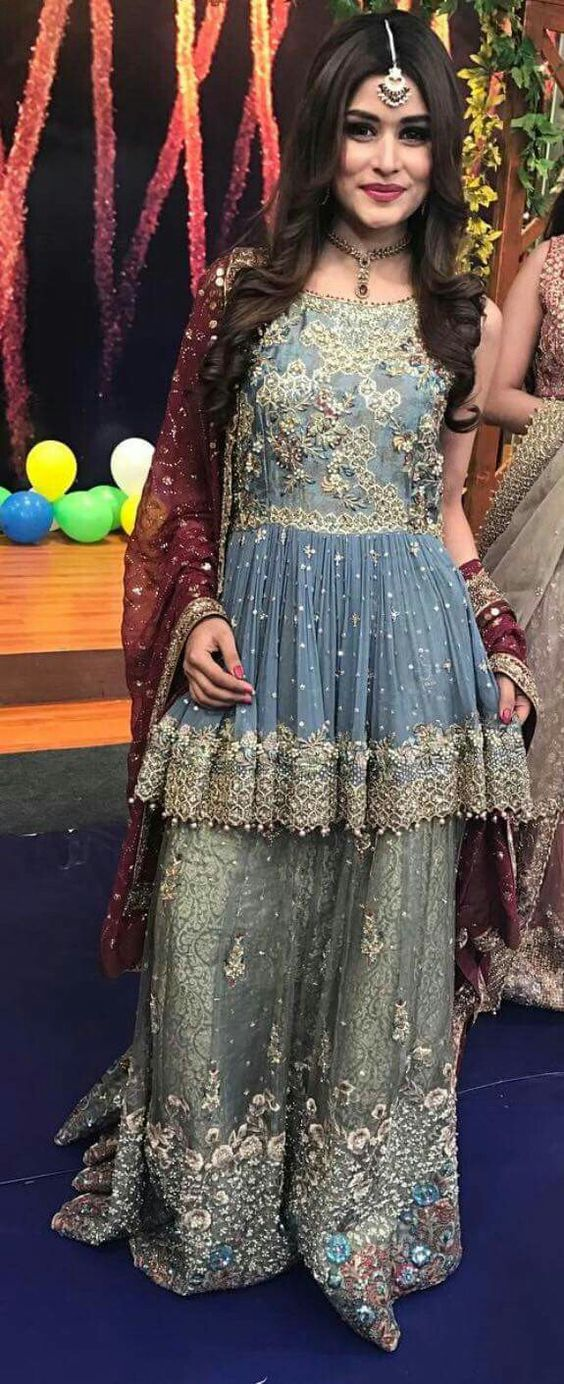 Latest Pakistani Short Frocks Peplum Tops Styles & Designs 2018-2019
