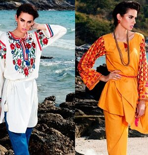 Latest Summer Kurti Designs & Tops by Origins Spring Collection 2017-18