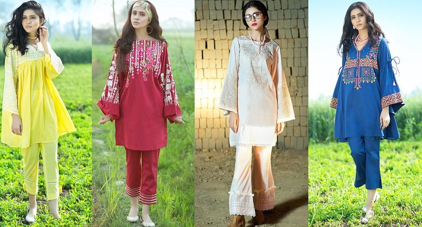 Latest Summer Kurti Designs & Tops by Origins Spring Collection 2018-19
