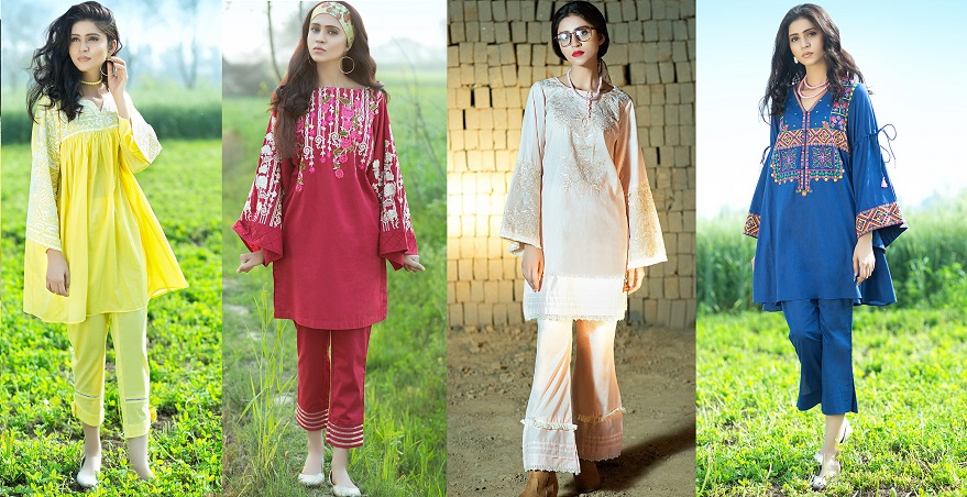 a976584e4977 Latest Summer Kurti Designs   Tops by Origins Spring Collection 2018-19