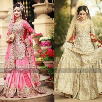 Latest Wedding Bridal Sharara Designs 2020 Collection